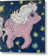 Little Pink Horse Metal Print