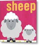 Little Sheep Metal Print by Linda Woods