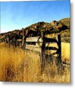 Livery Fence At Dripping Springs Metal Print