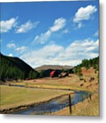 Living In The Valley Metal Print