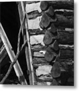 lloyd-shanks-barn-3BW Metal Print