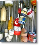 Lobster Trap Buoys 1 Metal Print