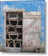 Lobster Trap Storage-3 Metal Print