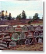 Lobster Traps Metal Print by Jeff Kolker
