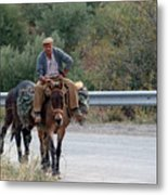 Local Travells By Donkey Metal Print