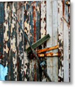 Locked Door Metal Print