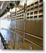 Lockers Metal Print