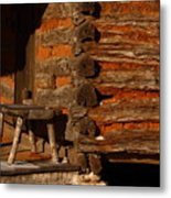 Log Cabin Metal Print by Robert Frederick