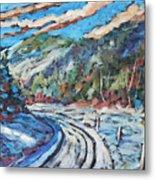 Loggers Road  Metal Print