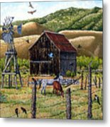 Lompa Valley Ranch Metal Print