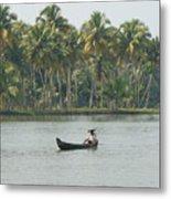 Lone Fisherman Metal Print