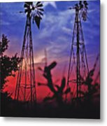 Lone Star Sunset Metal Print