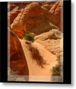 Lone Tree At Coyote Buttes Arizona Metal Print