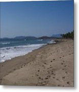Lonely Sand Metal Print