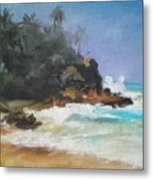 Lonely Sea Metal Print