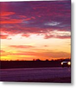 Lonesome Highway Metal Print