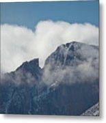 Longs Peak And Notch Metal Print by Brent Parks