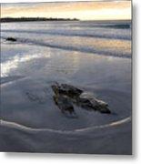 Longsands Rock 2 Metal Print by Catherine Easton
