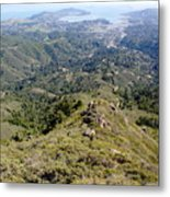 Looking Down From The Top Of Mount Tamalpais 2 Metal Print