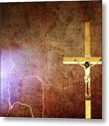 Lord Have Mercy - Crucifixion Of Jesus -2011 Metal Print