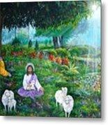Lord Jesus And Lord Krishna Metal Print