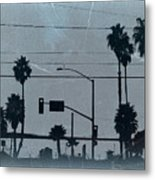 Los Angeles Metal Print by Naxart Studio