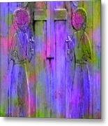 Los Santos Cuates - The Twin Saints Metal Print