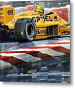 Lotus 99t 1987 Ayrton Senna Metal Print by Yuriy  Shevchuk