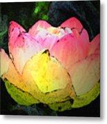 Lotus Fresco Metal Print