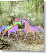 Love In The Magical Forest Metal Print