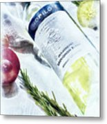 Love My Wine Metal Print by Pennie  McCracken