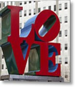 Love Park In Center City - Philadelphia Metal Print by Brendan Reals
