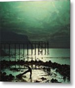 Low Tide By Moonlight Metal Print