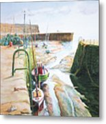 Low Tide Dysart Harbour Metal Print