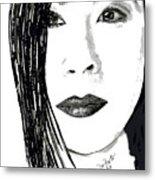 Lucy Liu Metal Print