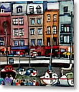 Lunch At The Harbor Metal Print