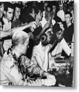 Lunch Counter Sit-in, 1963 Metal Print by Granger