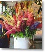 Lupine Flower Boquet Metal Print