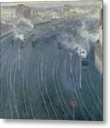 Luxembourg Station Metal Print