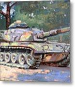M60 A3 Desert Storm Tank- Plein Air Metal Print