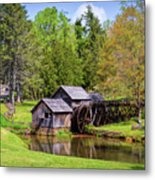 Mabry Mill In The Springtime On The Blue Ridge Parkway  Metal Print