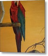 Macaw Of The Canary Island Metal Print