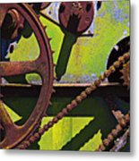 Machinery Gears  Metal Print