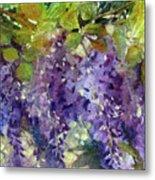 Magic In Purples And Greens Metal Print