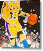 Magic Johnson Metal Print by Estelle BRETON-MAYA