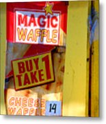 Magic Waffle Metal Print
