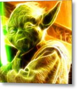 Magical Yoda Metal Print by Paul Van Scott