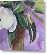 Magnolia Metal Print by Elizabeth Carr