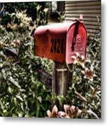Mailbox Deux Metal Print