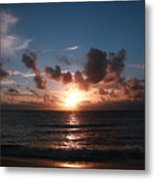 Ma'ili Sunset Metal Print
